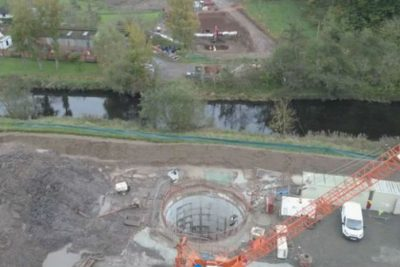 Tunnels take new Scottish water main under major road and river